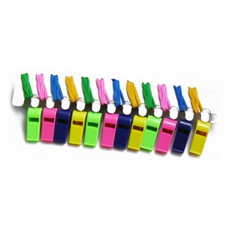 Plastic whistles with lace