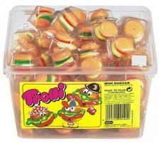 Trolli mini burger candys