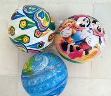 Plastic balls  in many designs