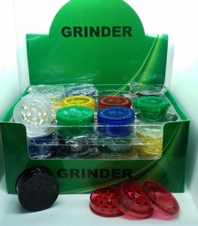 HERB PLASTIC GRINDER ASSORTED COLOURS